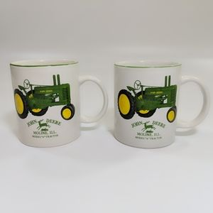 Pair of John Deere Tractor Coffee Mugs